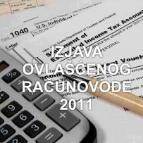 Izjava ovlašćenog računovođe za 2011